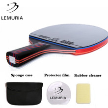 Lemuria profesyonel karbon Fiber masa tenisi raketi çift yüz sivilce in kauçuk 2.15MM sünger FL veya CS kolu ping Pong yarasa