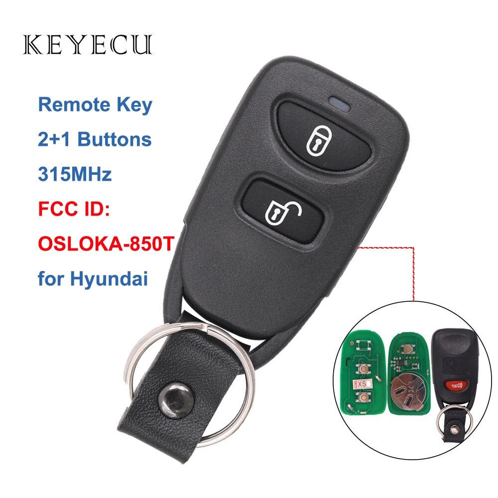 FCC ID: OSLOKA-320T, P//N: 95430-2E200, 95430-2E210 OEM Electronic 3-Button Key Fob Remote Compatible With 2005-2009 Hyundai Tucson