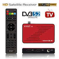 Koqit U2 DVB S2 recibidor Receptor de satélite buscador de satélite Internet DVB-S2 Cs Biss/VU decodificador iPTV Wifi USB/RJ45 caja de TV en vivo