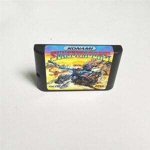 "Image 2 - רוכבי שקיעה ארה""ב כיסוי עם תיבה הקמעונאי 16 קצת MD משחק כרטיס עבור Sega Megadrive בראשית וידאו קונסולת משחקים"