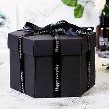 Сюрприз взрыв пара прекрасная коробка любовь памяти Diy Фотоальбом юбилей скрапбук рождественские подарки День Святого Валентина девушка любовь подарок