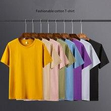 2020 Men's T Shirt 8 Basic Colors Short Sleeve Slim