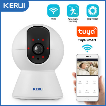 KERUI 1080P Tuya Smart Mini Wifi IP Camera Indoor Wireless Security Home CCTV Surveillance Camera 2MP Auto Tracking Night Vision 1