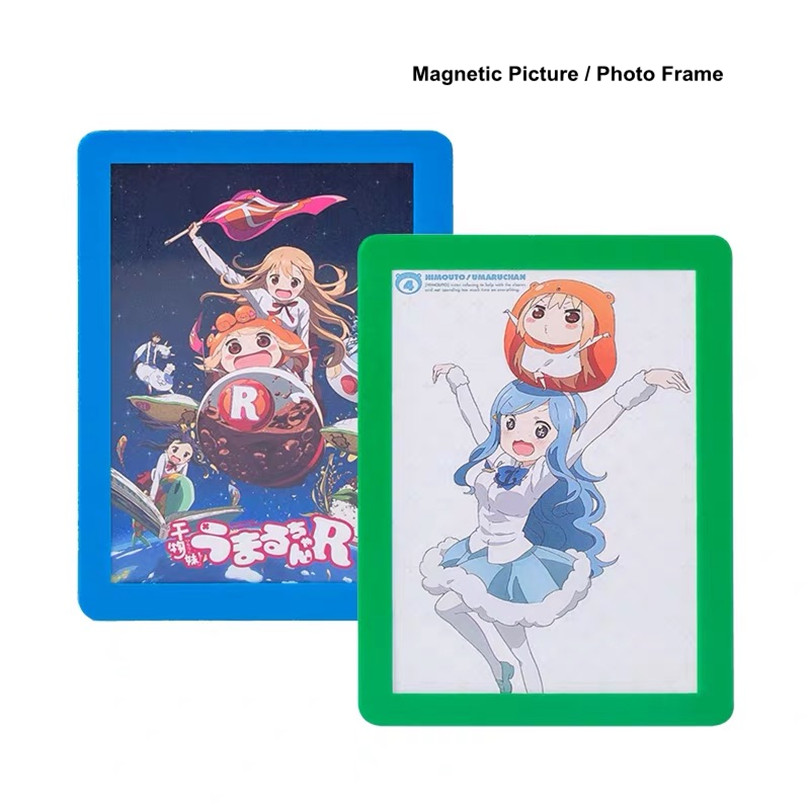 6 Inch Magnetic Self-adhesive Baby Photo Frame Studio Painting Frame Fridge Photo Picture Frame Sign Holder Poster Display Frame