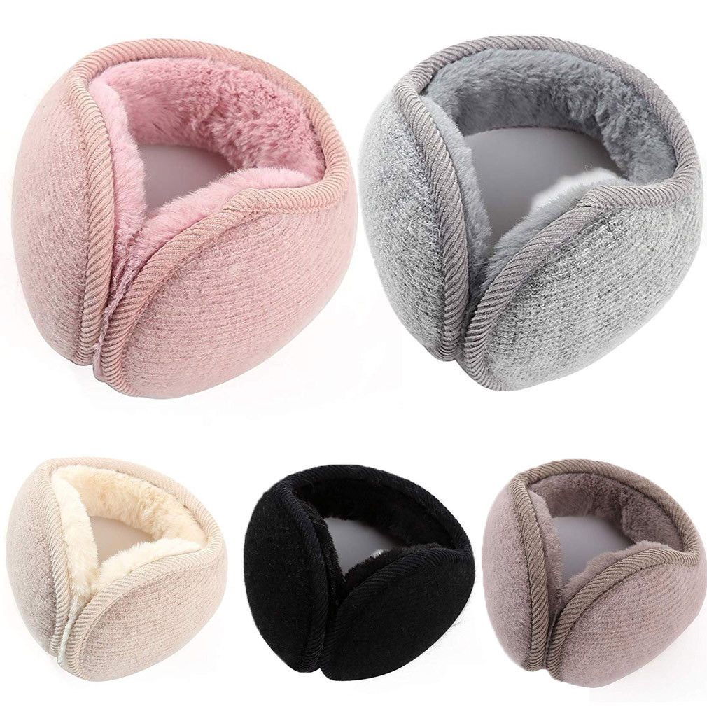Fashion Women Ear Earmuffs Bandless Fleece Ear Outdoors Winter Warm Warmers Men Women Earcap Protect Ears Accessories