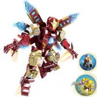 2019 NEW Super hero Endgam MK85 Mech Thanos iron Man robot Armatura marvel Building Blocks Imposta Mattoni Bambini Kit di Film idee Tron