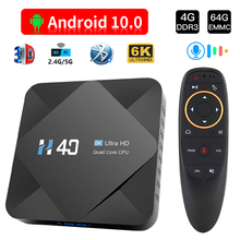 HONGTOP tv box android 10 4GB 64GB 2.4G&5GHz Wifi Bluetooth tv box 6K voice assistant media player Android TV Box Set top box
