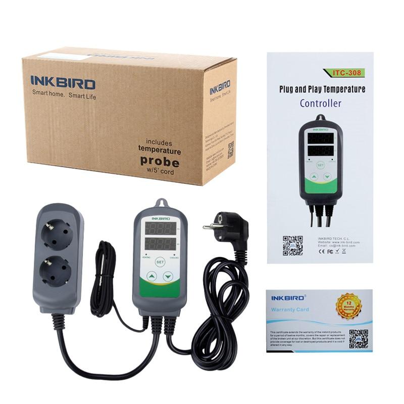 Termostato digitale Inkbird ITC-308 Uscita termostato caldo e freddo, - Strumenti di misura - Fotografia 6