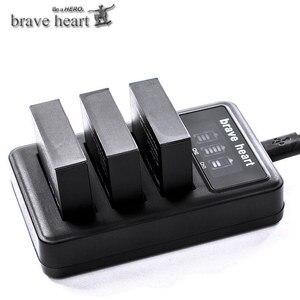 Image 5 - Bateria Gopro גיבור 4 hero4 סוללה + LED 3 חריצי USB מטען עבור GoPro HERO4 שחור/כסף/לבן פעולה מצלמה אבזרים