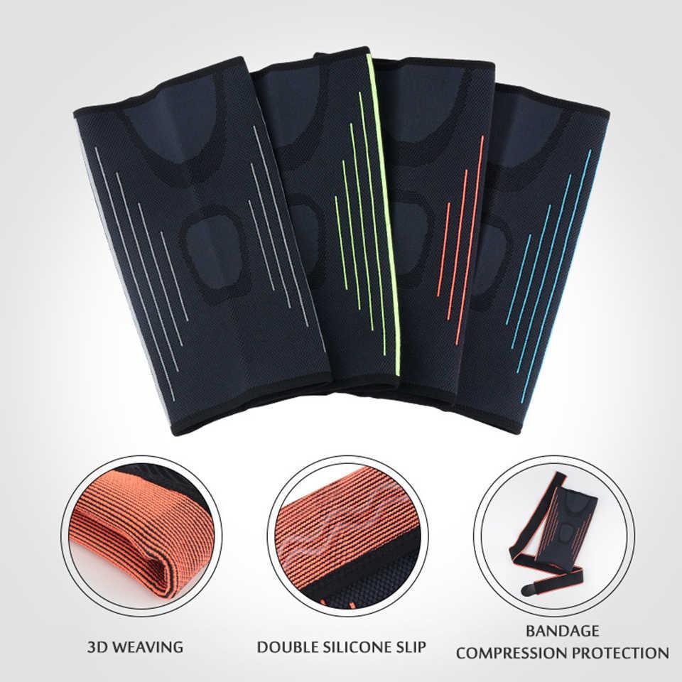 חדש 1Pcs ברכיים אלסטיים ניילון ספורט כושר Kneepad ציוד מגן פיקת סד תמיכה ריצה כדורסל כדורעף