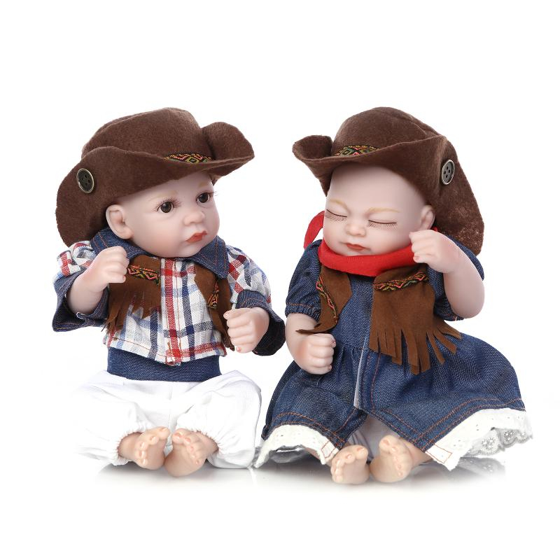 10inch Silicone Mini Reborn Dolls Newborn Baby Doll Silicone Real Touch Playmate Kids Toys Pretend Play Toys Christmas Gift
