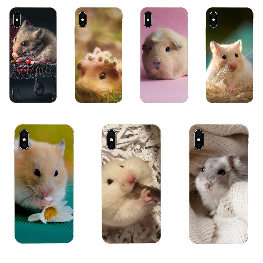 Silicone Phone <font><b>Cover</b></font> Bag For <font><b>Samsung</b></font> Galaxy Note 5 8 9 S3 S4 S5 S6 S7 S8 S9 S10 5G mini Edge Plus Lite Cartoon Hamster image