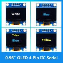 0.96 polegada oled spi/iic série branco/azul/amarelo módulo de exibição oled 128x64 i2c ssd1306 12864 placa de tela lcd gnd vdd sck sda