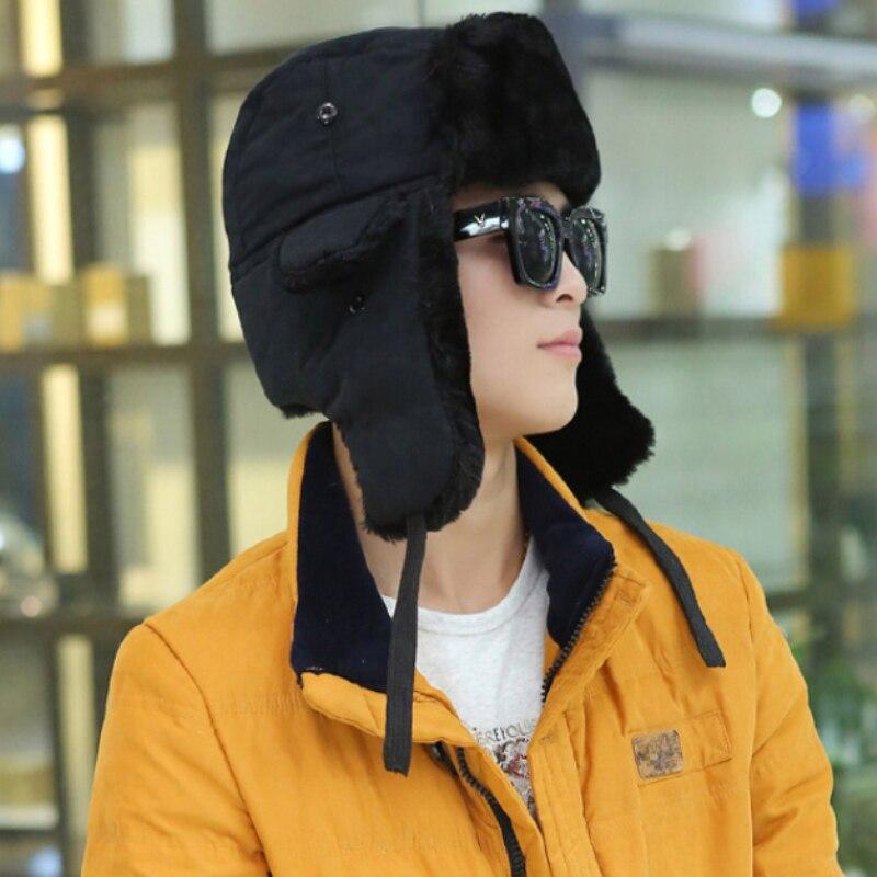 Winter Hat Bomber-Hat Ushanka-Hat Trapper-Cap Earflap Women Thick Unisex Warm Autumn