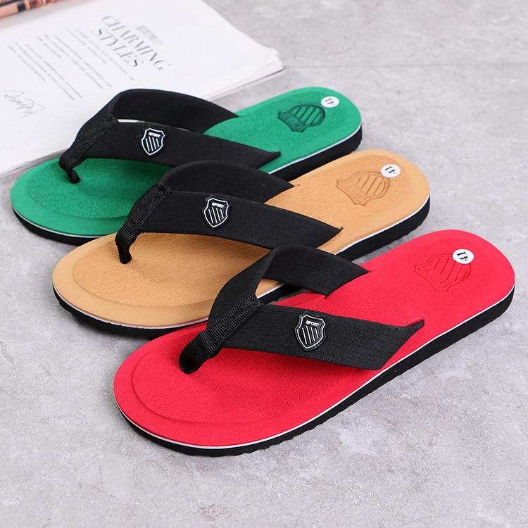 Men Summer Flip Flops Beach Sandals Anti-slip Casual Flat Shoes High Quality Slippers Zapatos Chanclas De Hombre Chaussure Homme 2