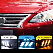 רכב מהבהב 2 pcs עבור ניסן Sylphy sentra 2013 2015 LED DRL בשעות היום ריצת אורות עמיד למים אות מנורת רכב סגנון