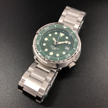 Steeldive1975 Men's Fashion Tuna Watch Green Dial Automatic Diving Sports