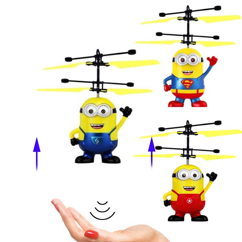 Saleaman Mini RC Helicopter Drone Minions Helicopter Quadcopter Drone Flying Sensory