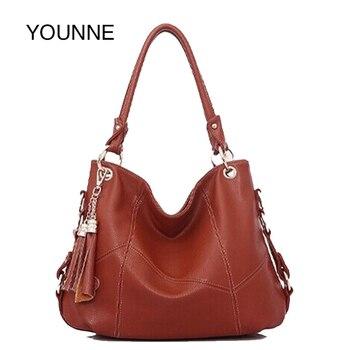 Bolsos de mano Vintage de lujo de mujer YOUNNE con borlas bolsos de mano de moda de gran capacidad