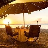 Outdoor Waterproof Solar Umbrella Lamp String Garden Lawn Beach Sun Umbrella Lights with Christmas Courtyard Decoration Lamp led