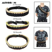 10 round 12gauge 12ga molle pouch tactical shell holder ammo bag military army hunting bandolier cartridges bullet holder bag Tactical 25/29/50 Rounds Ammo Shell Holder Belt 12/20 Gauge Ammo Pouch Shot Gun Shell Bandolier Waist Bullet Cartridges Holster