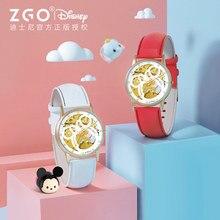 Оригинал Disney часы женский студент автоматический водонепроницаемый звездный девушка полый бриллиант светящийся механический часы