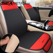Automobiles Seat Covers Interior Flax Car Seat Cover Set Universal Protector Chair Seat Cushion SEAMETAL Seat-Cover Accessories
