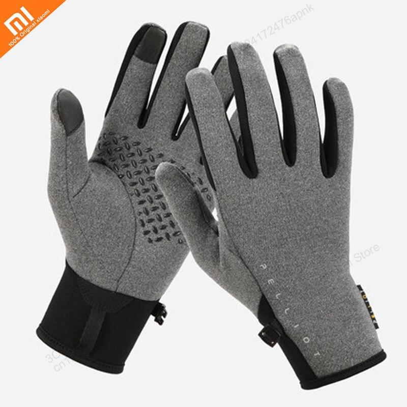 Xiaomi Outdoor Riding Warm Fleece Gloves For Men And Women Winter Running Sports Anti-slip Touch Screen Plus Velvet Gloves