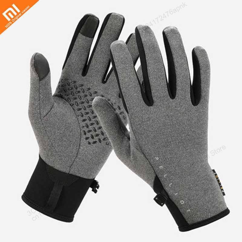 Xiaomi Outdoor Riding Warm Fleece Gloves For Men And Women Winter Running Sports Anti-slip Touch Screen Plus Velvet Gloves