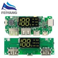 LED Dual USB 5V 2,4 A Micro/Typ-C USB Mobile Power Bank 18650 Lade Modul Lithium-batterie Ladegerät Bord Schaltung Schutz