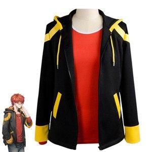 Disfraz de Cosplay de mensajero místico para juegos, Sudadera con capucha, sudadera, chaqueta, atuendo para hombres, Tops para chicos, 707