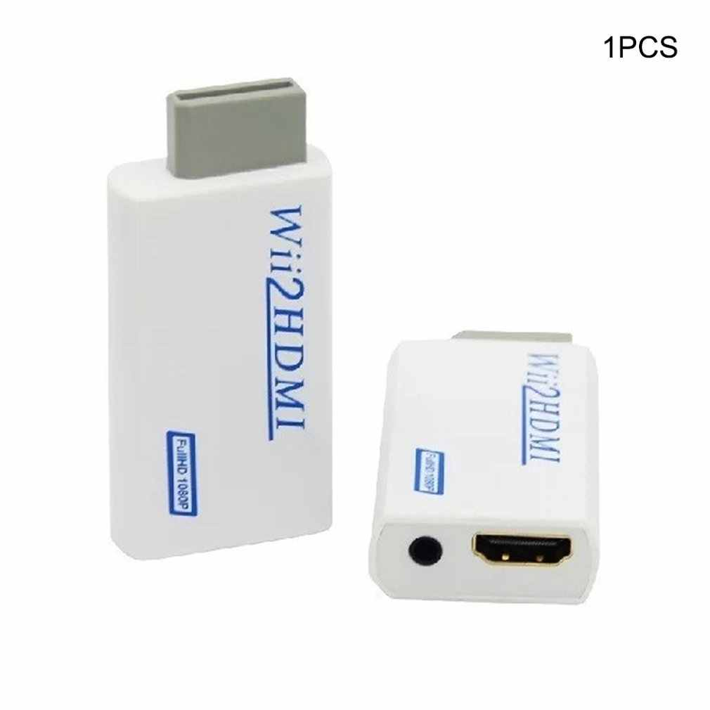 Для Wii to HDMI HD VideoUpscaling конвертер адаптер Белый + HDMI кабель 720P 1080P HD конвертер аудио выход