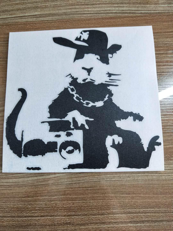 Banksys Angel Rat Car Window Vinyl Decal Sticker