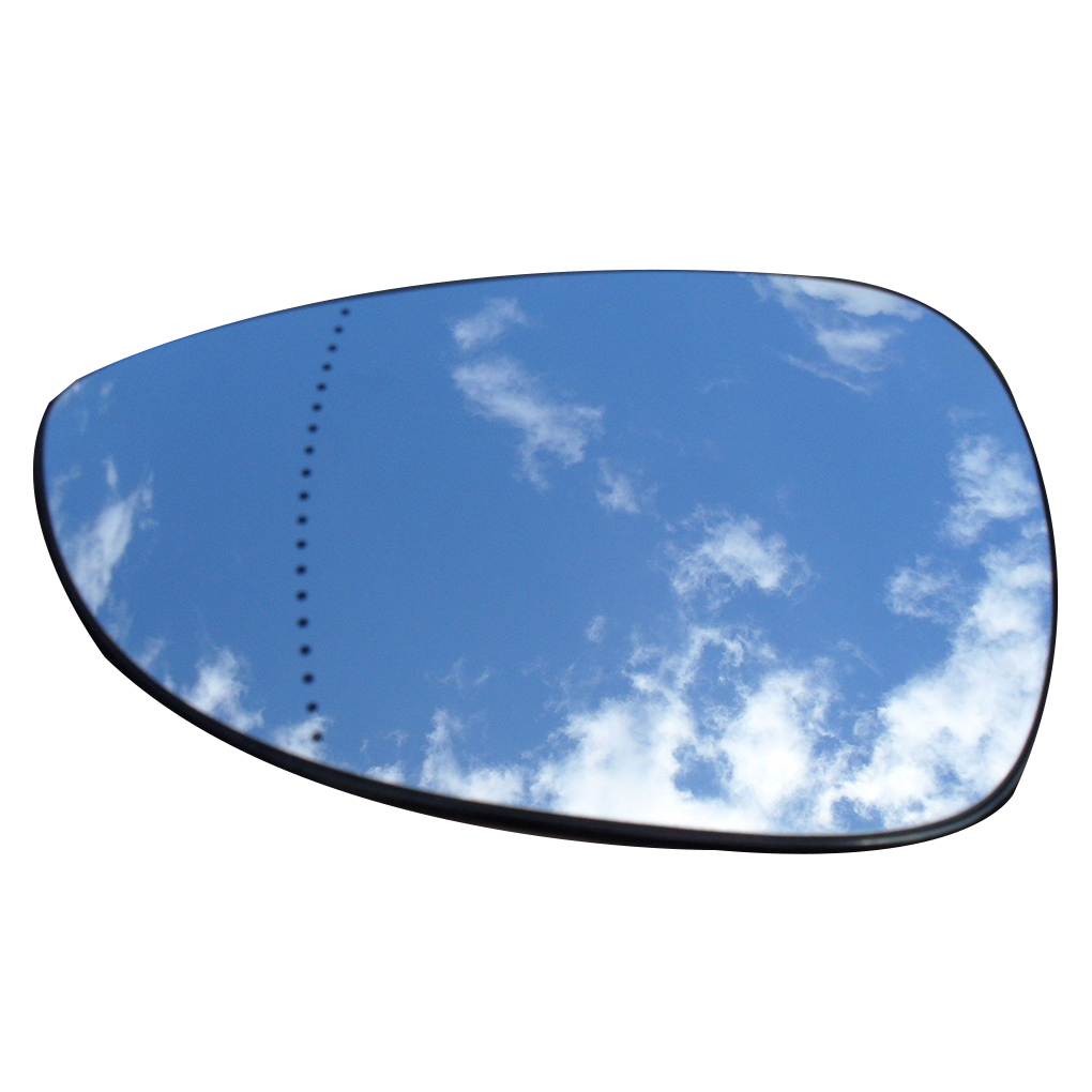 Left Driver Side White Replacement Car-Styling Rearview Side Mirror Glass Lens For Ford Fiesta 2009-2014