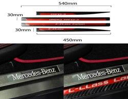 Auto Innen Dekoration Moulding für Mercedes Benz C Klasse W204 Tür-Schwellen-verschleiss-Platte Guards Protector Aufkleber Zubehör