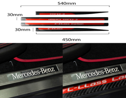 Auto Interior Decoration Moulding for Mercedes Benz C Class W204 Door Sill Scuff Plate Guards Protector Stickers Accessories