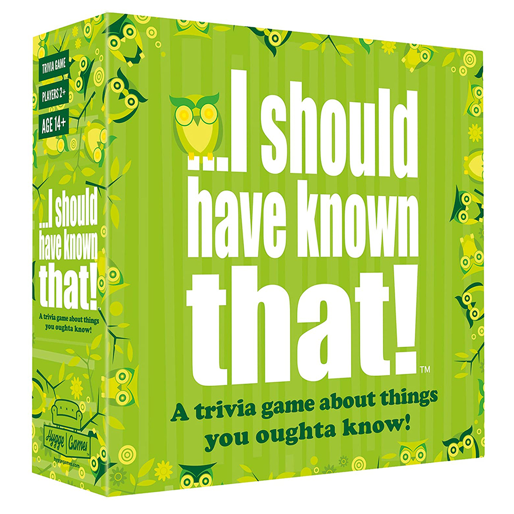 I Should Have Known that Trivia Board Game 400 Questions About Things that You Should Know Card Party Entertainment Toy image