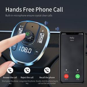 Image 3 - Essager USB 車の充電器ワイヤレス Bluetooth 5.0 カーキットハンズフリーの Fm トランスミッタ MP3 急速充電器 iPhone Xiaomi 携帯電話
