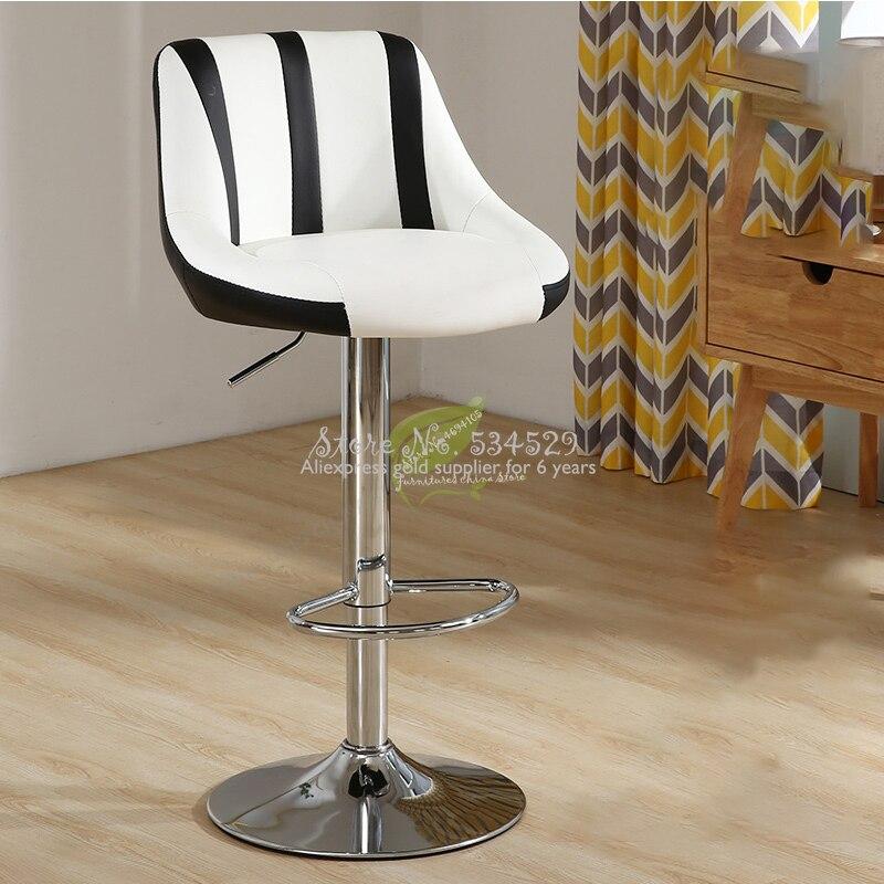 21Stool Bar Tabouret De Bar Stool Modern Bar Stool Seat Beauty Salon Furniture Make Up Chair European Style Backrest High Stool