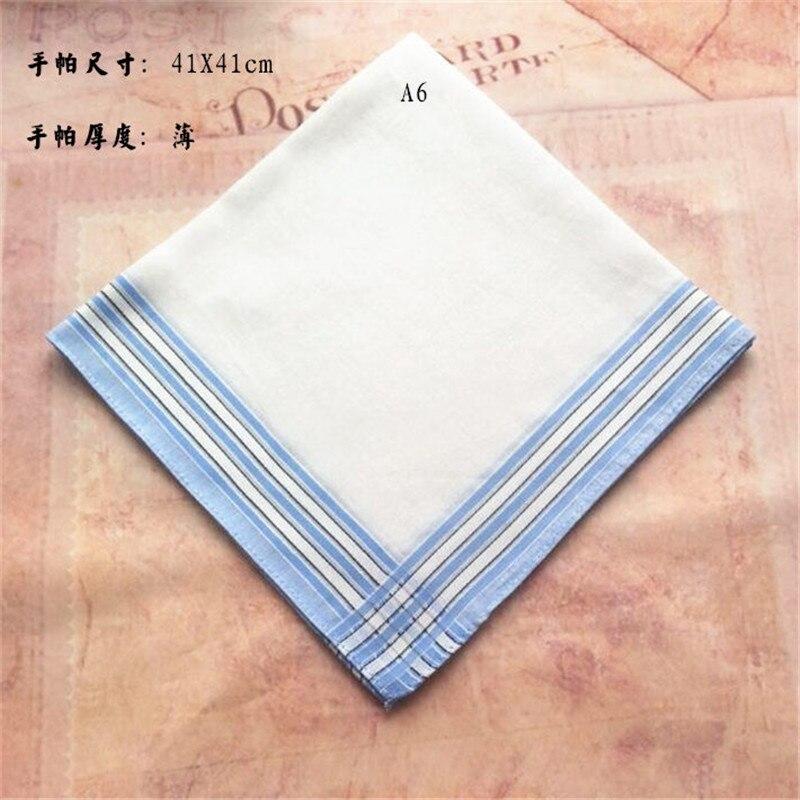 Men's Cotton Women's Handkerchief Cotton Handkerchief Gift Box(Random Color Shipping)  908