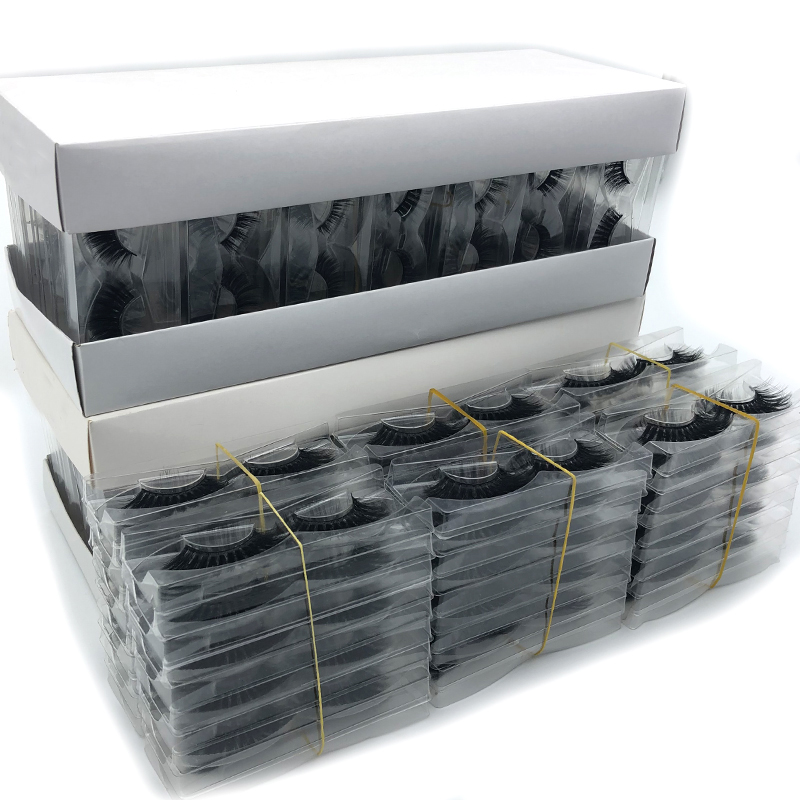 30/50/100 Pairs Eyelashes Wholesale Hand Made Mink Eyelashes 3d Mink Hair Lashes Natural Lashes Makeup 3d Volume False Eyelashes