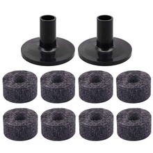8PCS Cymbal Stand 25mm Felt Washer + 2PCS Sleeves Replacement for Shelf Drum Kit