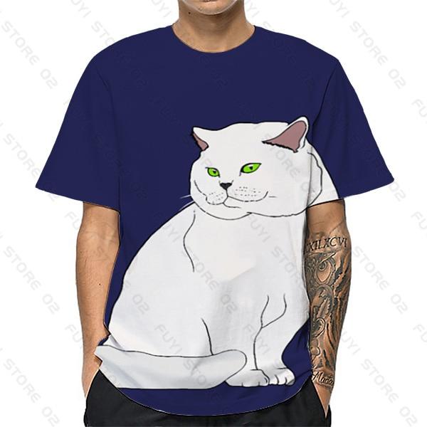 Купить 3d t shirt cat print cute men/women short sleeve newest teens