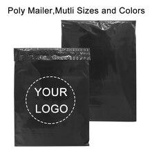 50pcs/Lot Plastic Mailer Envelope Bags Courier Bag Poly Shipping Mailing Colorful Packaging Parcel Storage Custom Logo Brand Bag