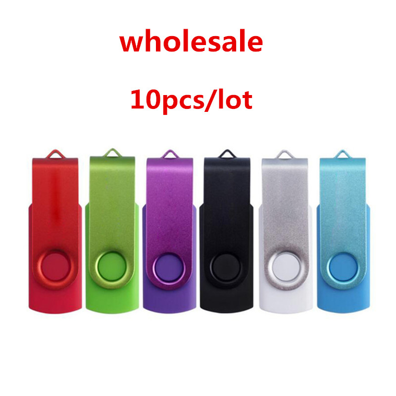 wholesale 10PCS LOT 32GB 16GB 8GB 4GB 2GB 1GB OTG USB Flash Stick Pendrive U Disk USB Flash Drive For Computer Android Phone in USB Flash Drives from Computer Office