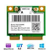 WiFi 6E AX210HMW Mini PCI-E tarjeta Wifi para Intel AX210 5374Mbps Bluetooth 5,2 802.11ax 2,4G/5G/6G WiFi 6 AX200 adaptador inalámbrico