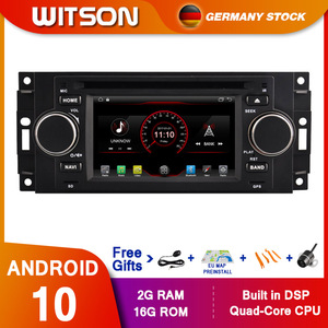 WITSON android 10 Car Multimedia player 5 Inch For Chrysler/300C/Dodge/Jeep/Commander/Compass/Grand Cherokee Radio GPS DVD(China)