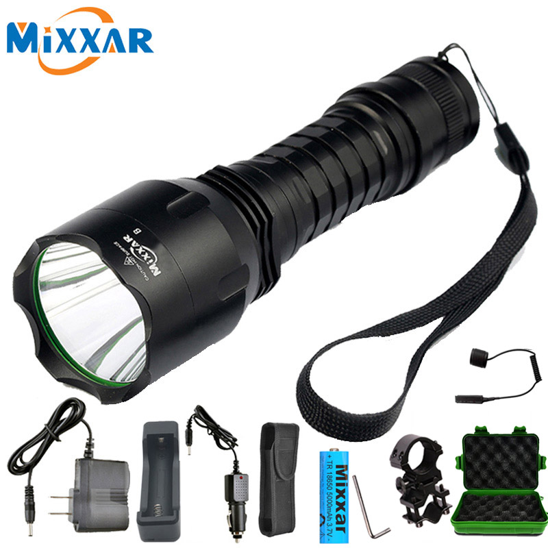 ZK5 Dropshipping C8 L2 LED Flashlight Cold Natural White Light 18650 Battery Tactical Flashlights Lantern Torch Camping Lamp