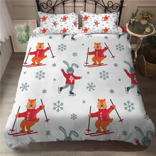 A Bedding Set 3D Printed Duvet Cover Bed Set Christmas Snowflake Home Textiles for Adults Bedclothes with Pillowcase #XH01 plc cpm1a 40cdr a v1 xh01
