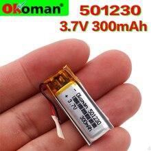 3,7 V 300mAh 501230 полимерный перезаряжаемый литий-полимерный аккумулятор для мобильных bluetooth-динамик для наушников MP3MP4